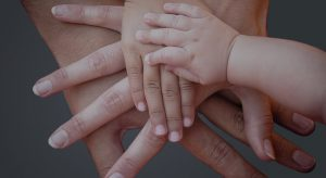 Hände miteinander